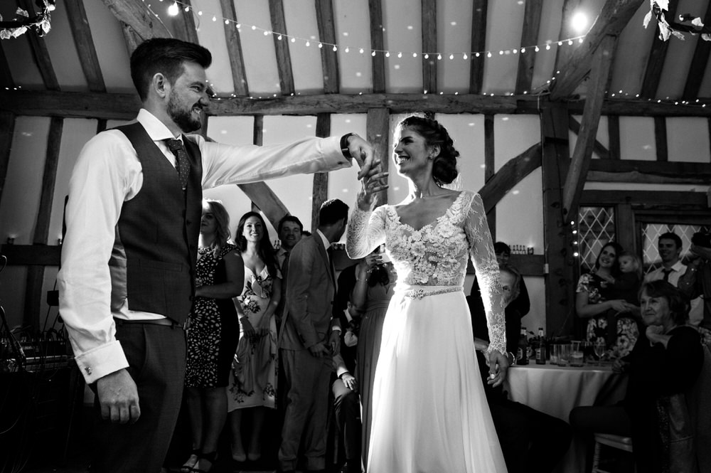 first dance Rumbolds farm wedding