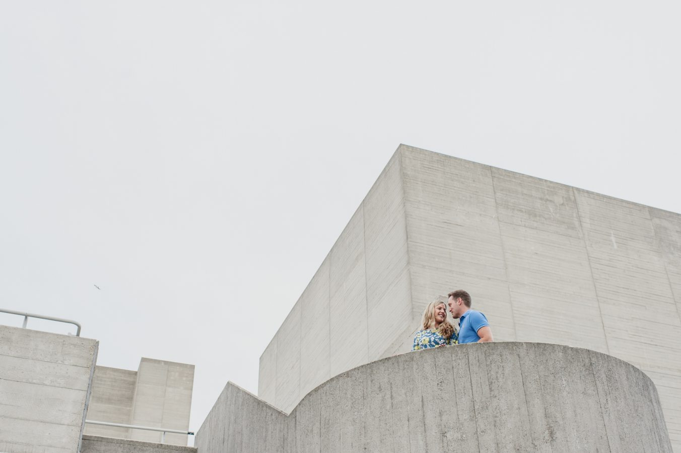 couple on South Bank pre wed shoot