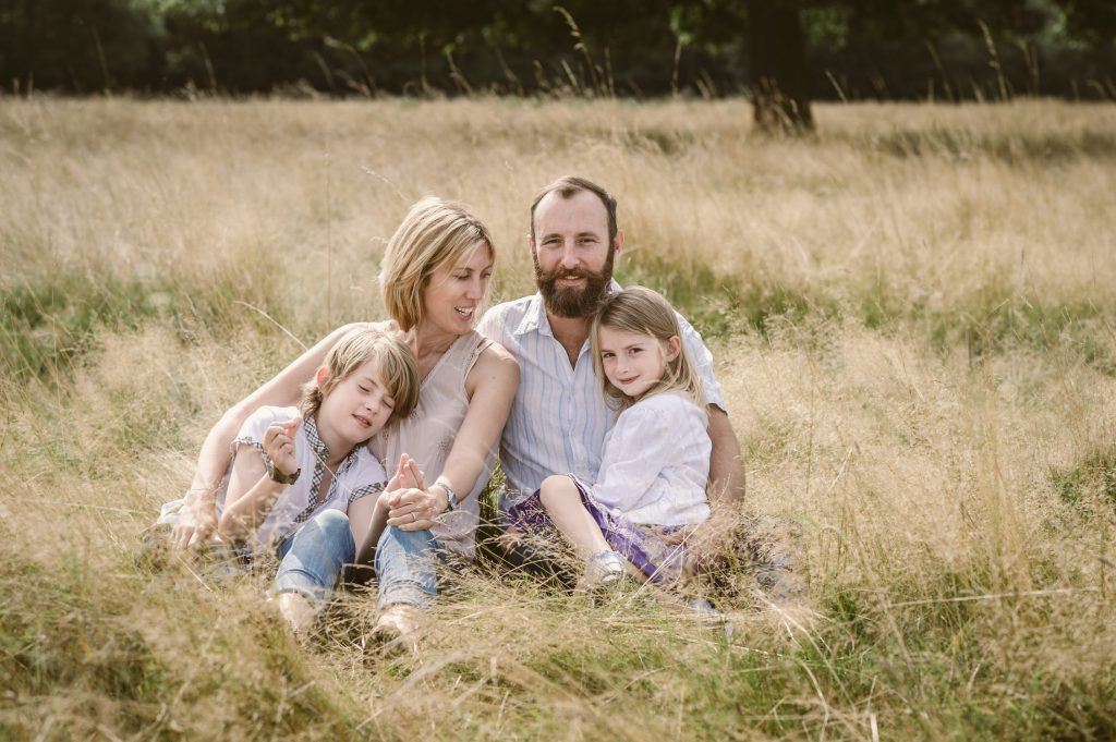 family photos in Bushy Park