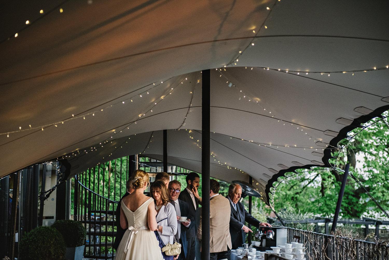 Bingham Hotel Wedding drinks reception